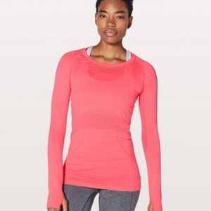 Lululemon Swiftly Tech Long Sleeve Crew 4 Pink